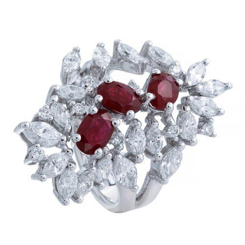 انگشتر ياقوت قرمز 73470 B گوهربين goharbin