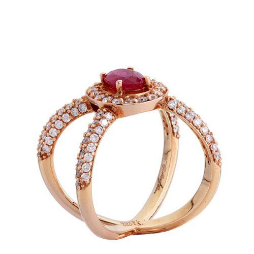 انگشتر ياقوت قرمز 74356 A گوهربين goharbin