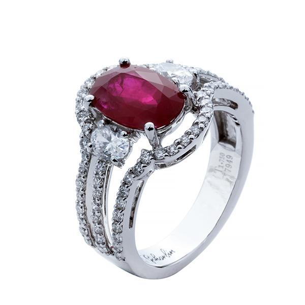 انگشتر ياقوت قرمز 77949 A گوهربين goharbin