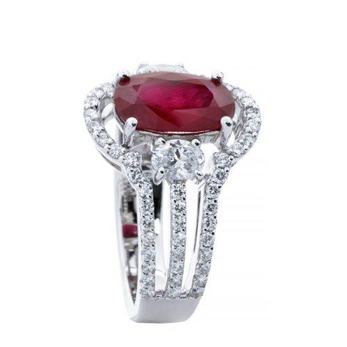 انگشتر ياقوت قرمز 77949 B گوهربين goharbin