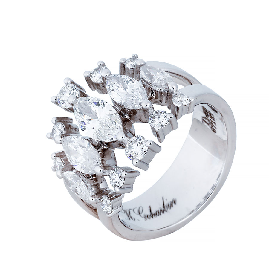 انگشتری برليان 67187 A گوهربين goharbin