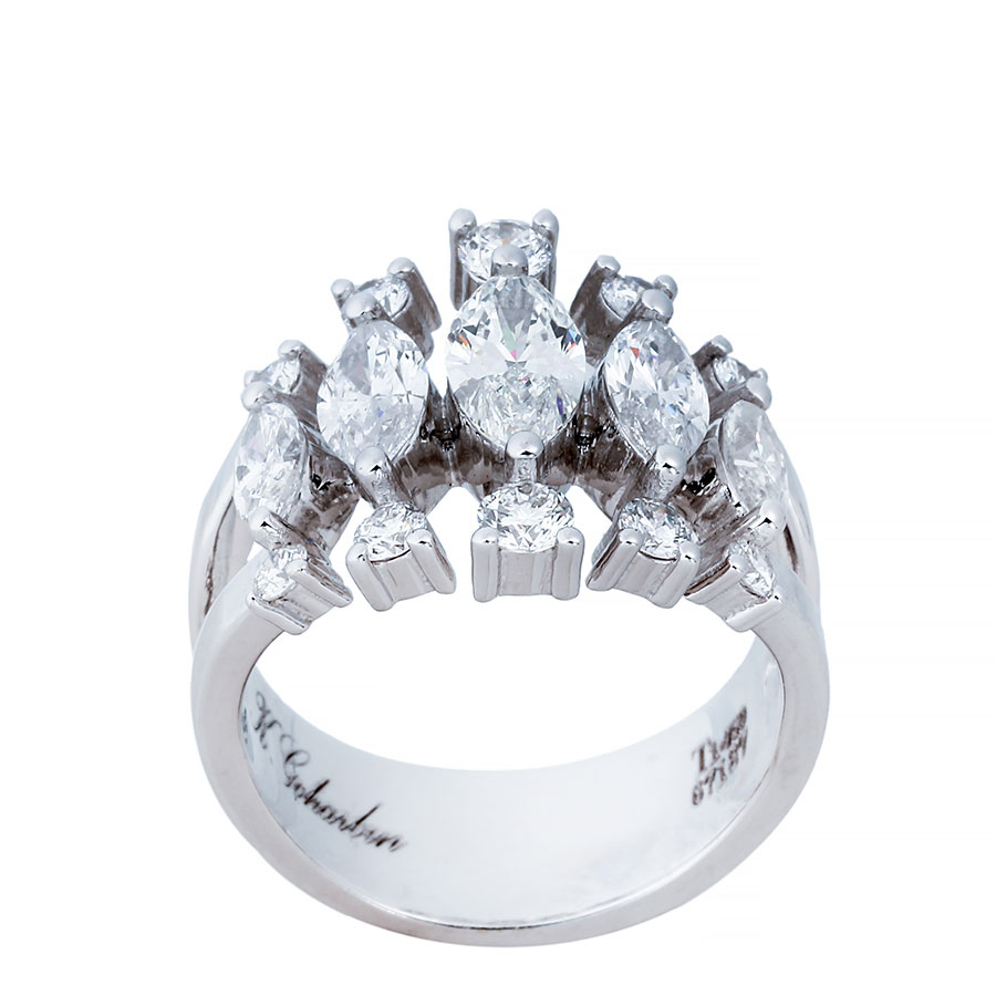 انگشتری برليان 67187 B گوهربين goharbin