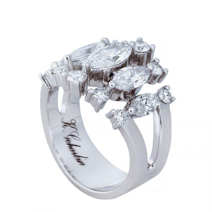 انگشتری برليان 67187 C گوهربين goharbin