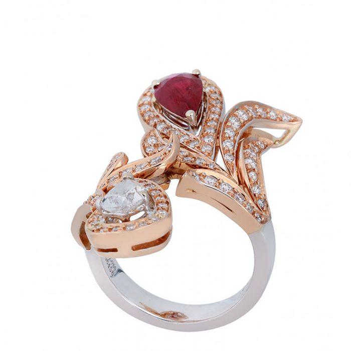 انگشتری ياقوت قرمز 66456 C گوهربين goharbin