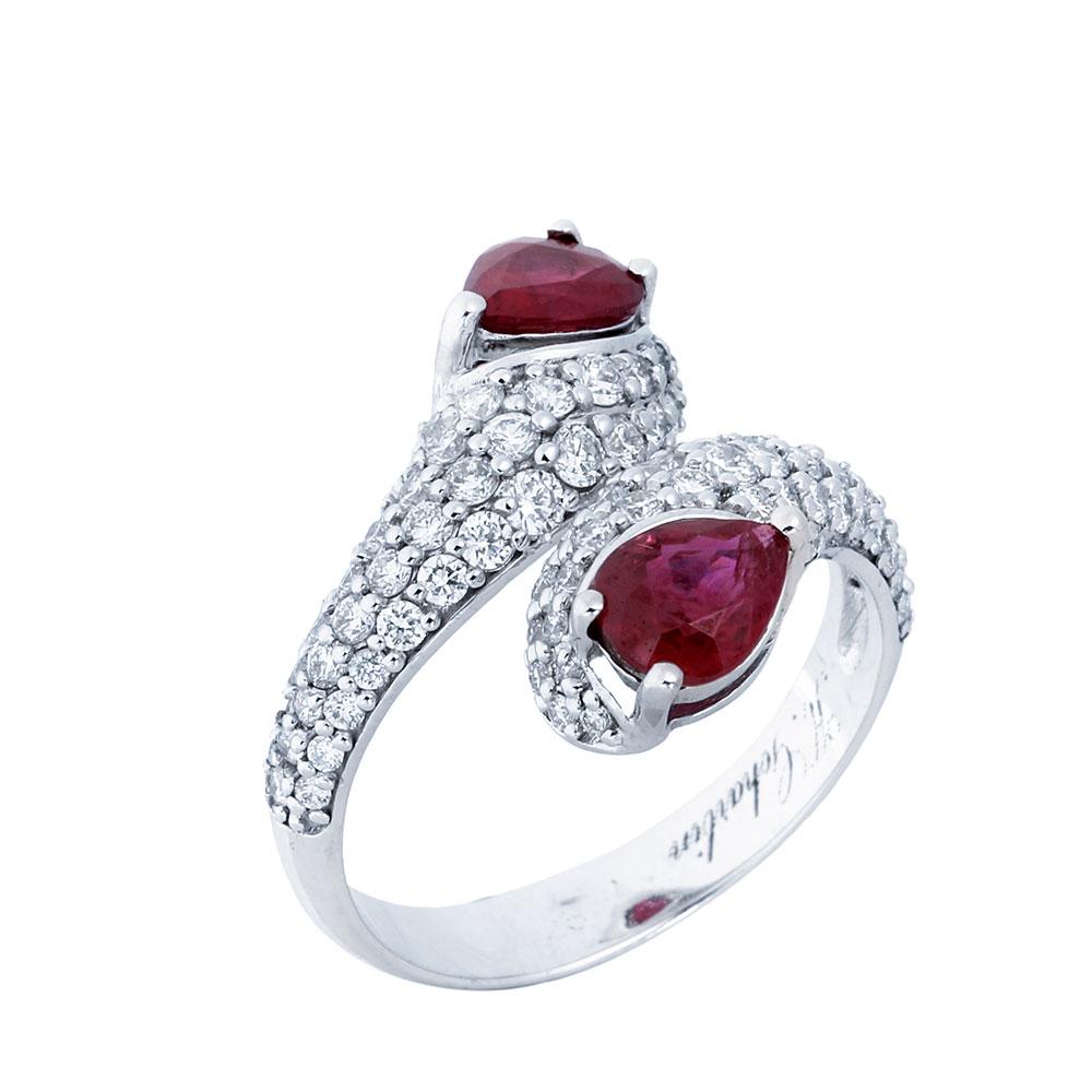 انگشتری ياقوت قرمز 68480 A گوهربين goharbin