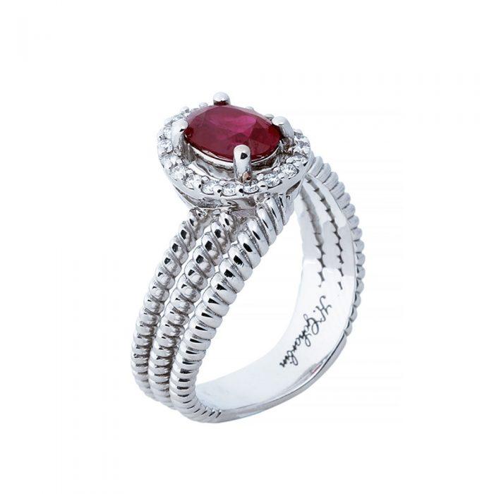 انگشتری ياقوت قرمز 78884 A گوهربين goharbin