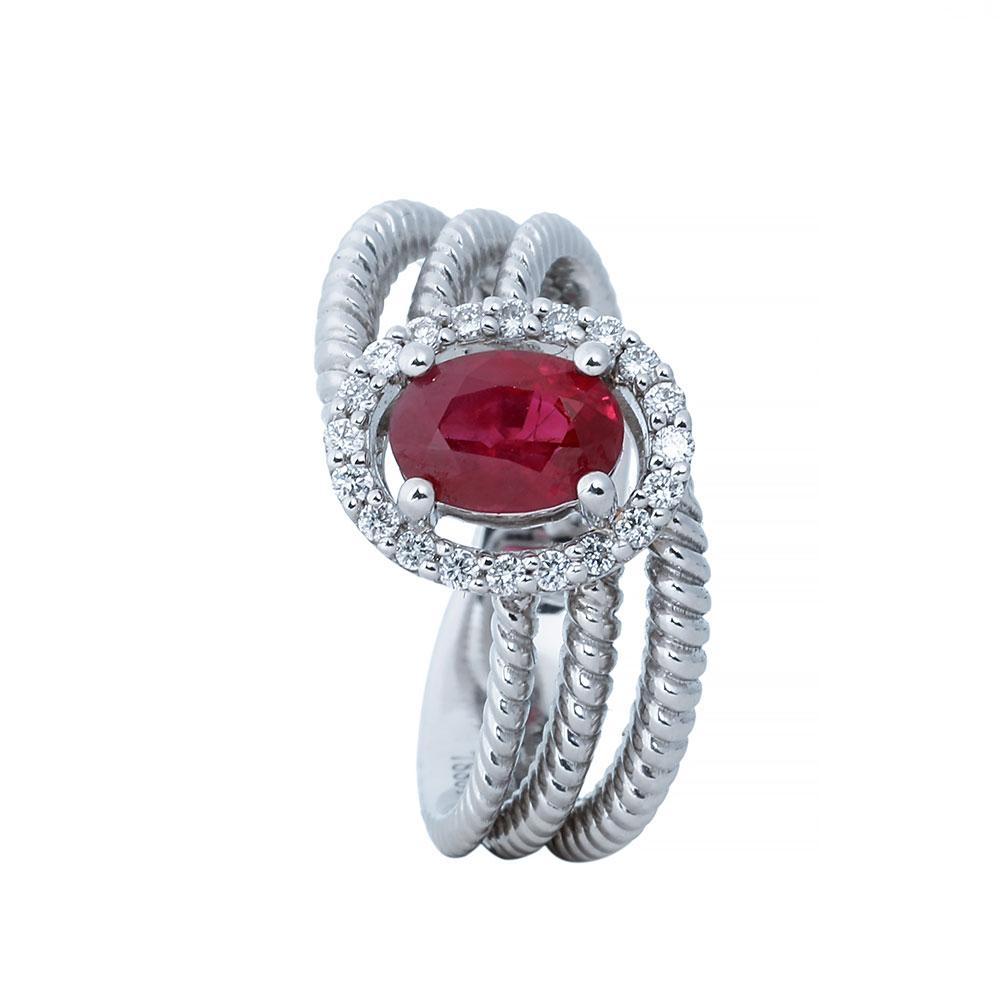 انگشتری ياقوت قرمز 78884 C گوهربين goharbin