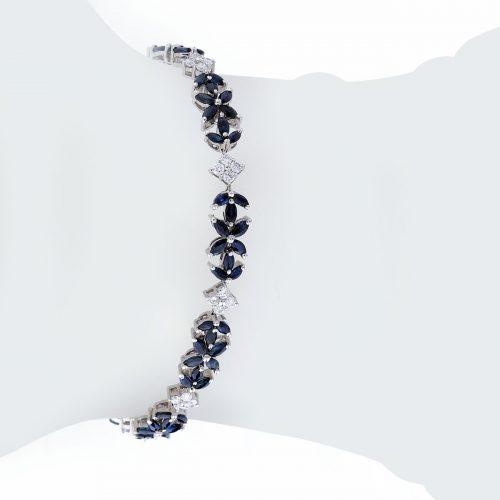 دستبند ياقوت كبود 76742 C گوهربين goharbin