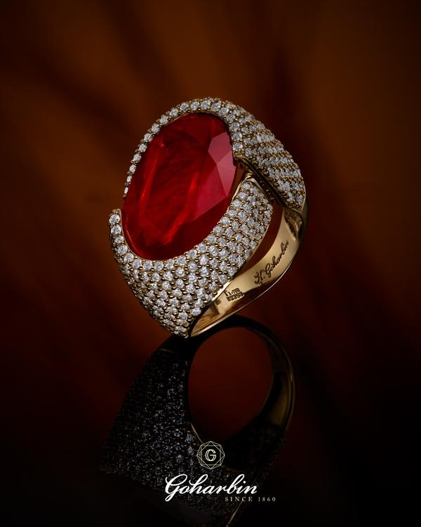 انگشتری ياقوت قرمز گوهربین