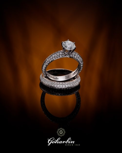 • حلقه و انگشتري ست برليان مدل تنيس و سوليتر