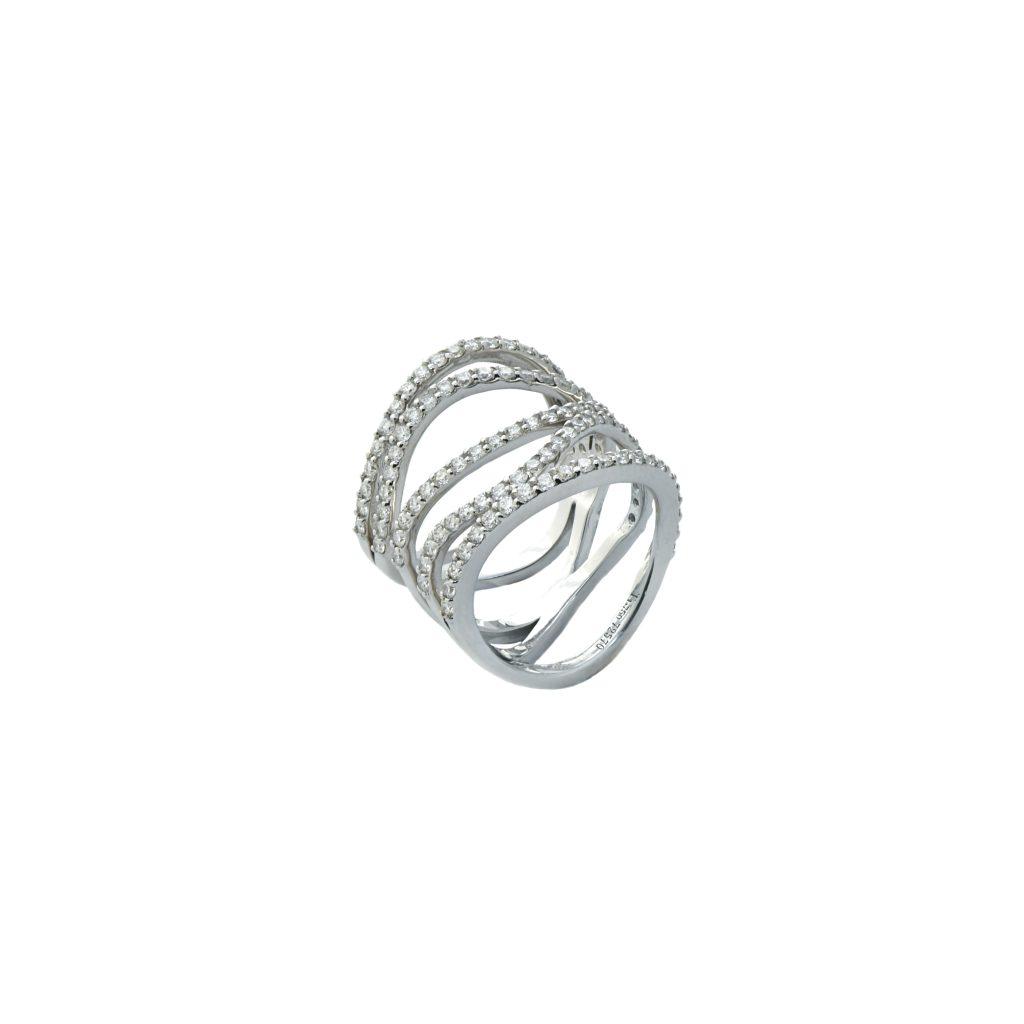 coil diamond ring