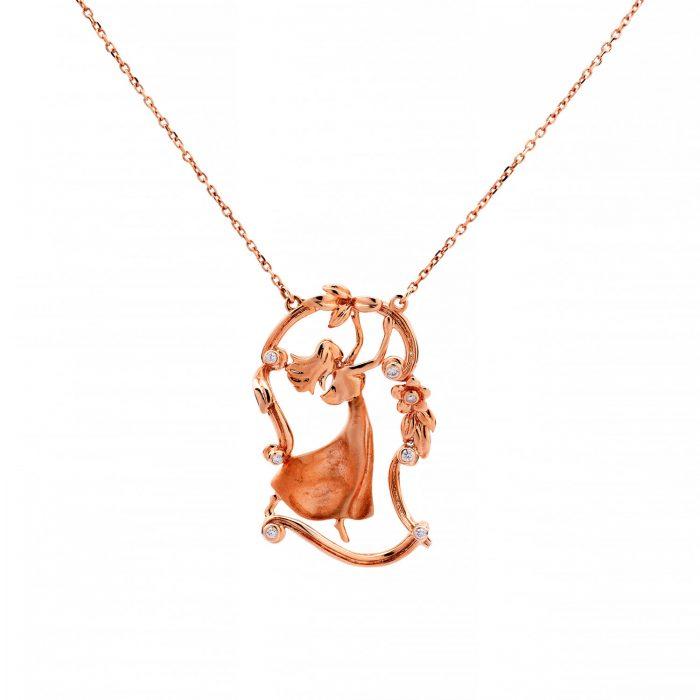Angle_brilliant_rosegold_pendant_Goharbin-jewelry-مدال-گوهربین