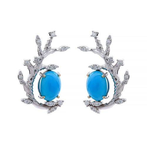 turquoise Branch brilliant_Goharbin_earings Goharbin Jewerly