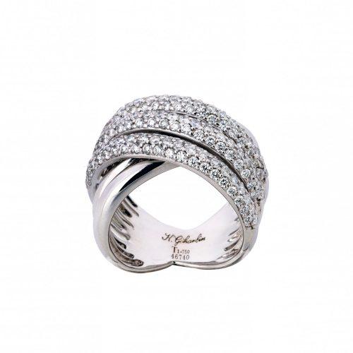 Diagonal Brilliant Ring