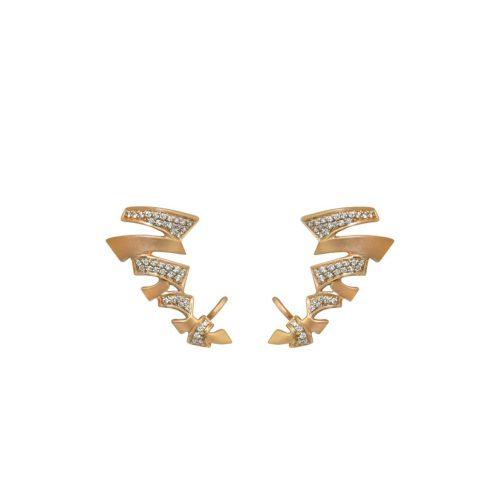 Goharbin Brilliant Zigzag Earrings