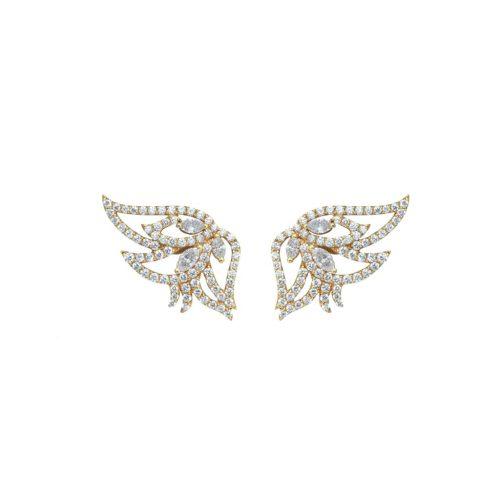 Goharbin-Diamond-earrings-with-leaf design