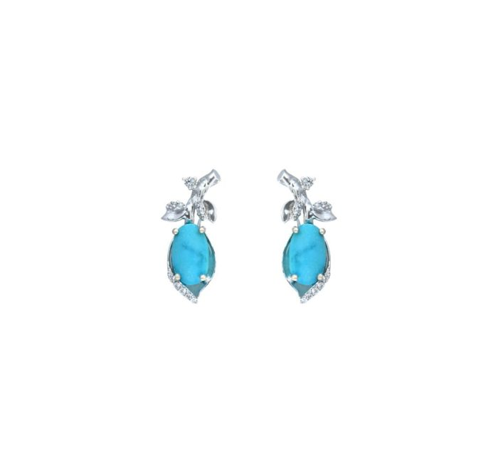 Goharbin Turquoise Brilliant Earrings