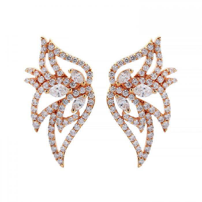 Goharbin brilliant leaf earrings