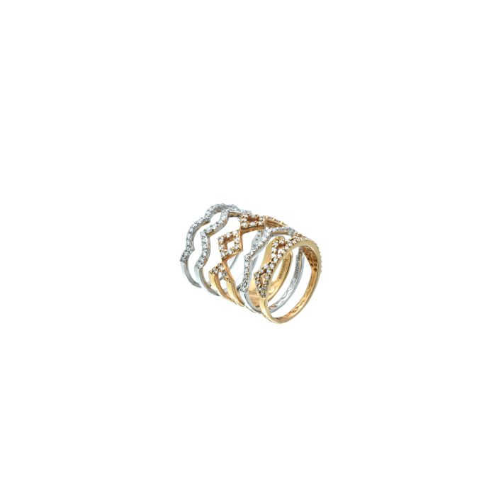 Multi-piece diamond ring