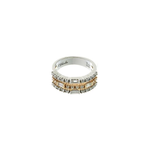 Two-color diamond ring