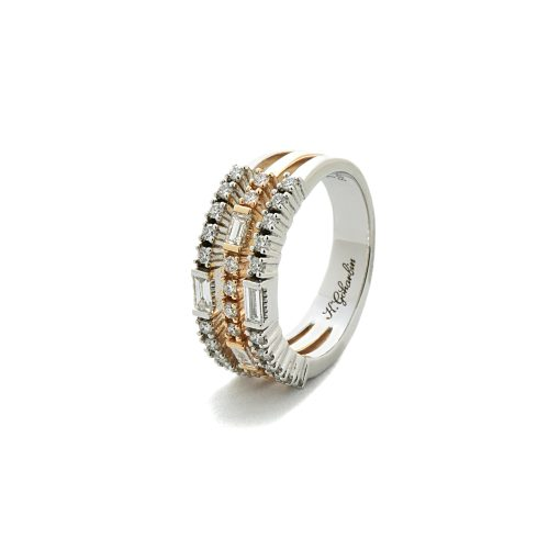 Two-color diamond ring2