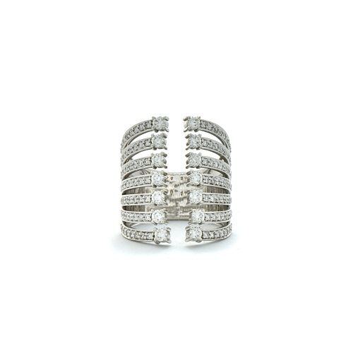 Grooved diamond ring