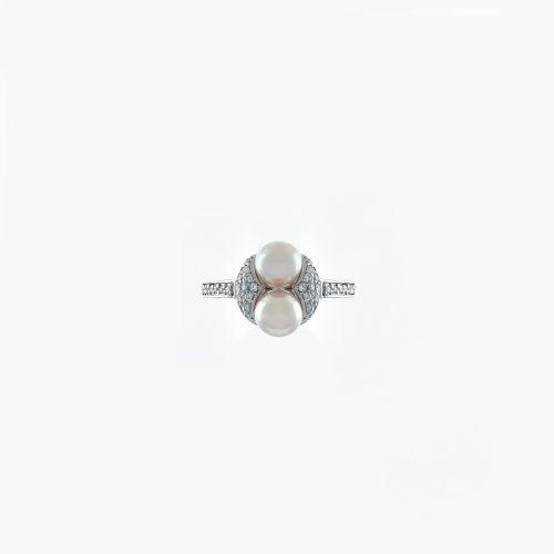 Goharbin Twin pearl brilliant rings2