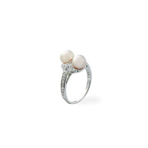 Goharbin Twin pearl brilliant rings