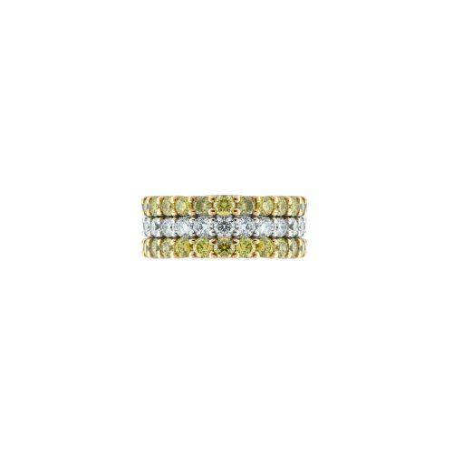Goharbin bi color diamond ring
