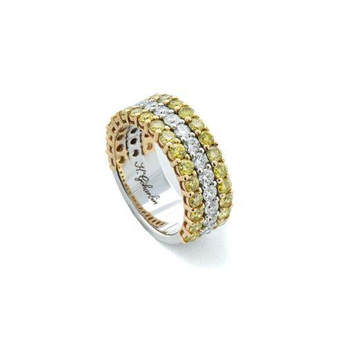 Goharbin bi color diamond ring2