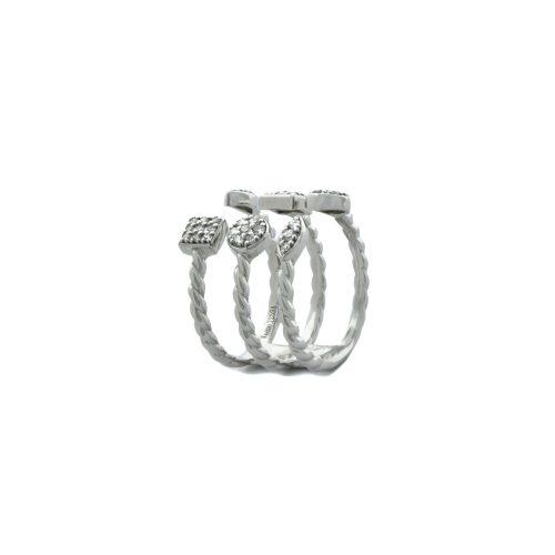 Goharbin diamond half ring