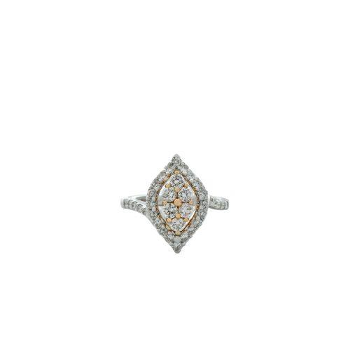 Goharbin Diamond ring leaf design