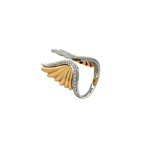Diamond ring with wing design2