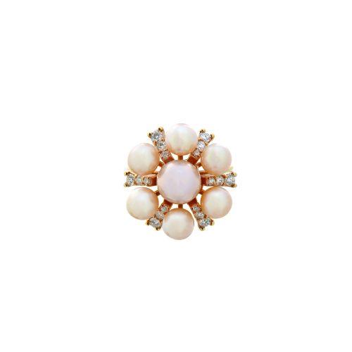 Goharbin pearl ring with Sun design2