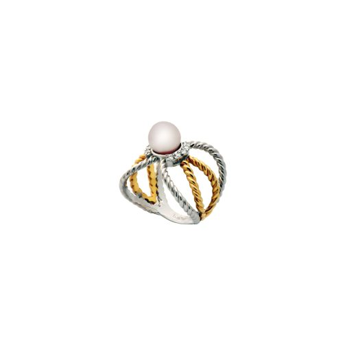 Goharbin Sun Design Pearl Ring