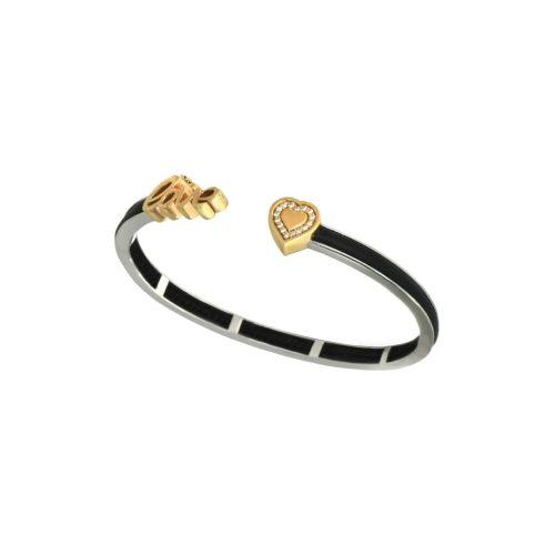 Goharbin's Gold & Leather Bracelet