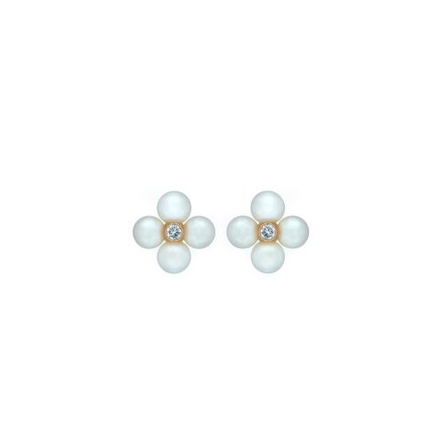 Goharbin Pearl and diamond earrings