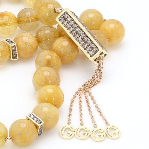 Goharbin Quartz and Diamond Tasbih Type one3