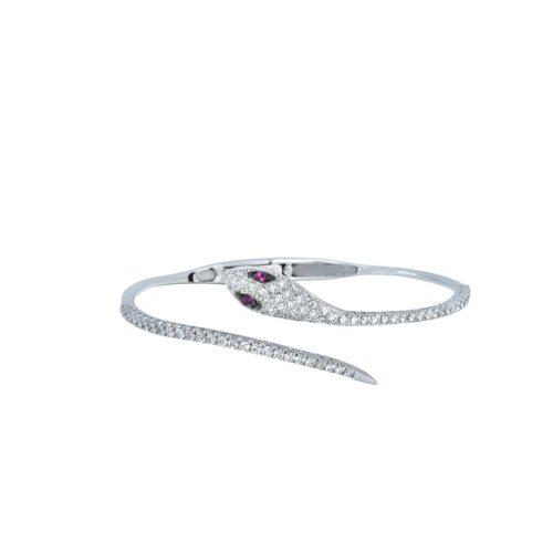 Goharbin Brilliant cut diamond Bracelet snake design