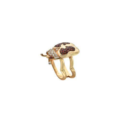 Goharbin Diamond ring and sapphire farm set