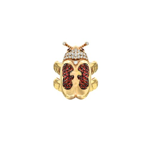 Goharbin Diamond ring and sapphire farm set2