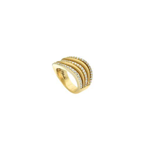 Goharbin Diamond ring with river design