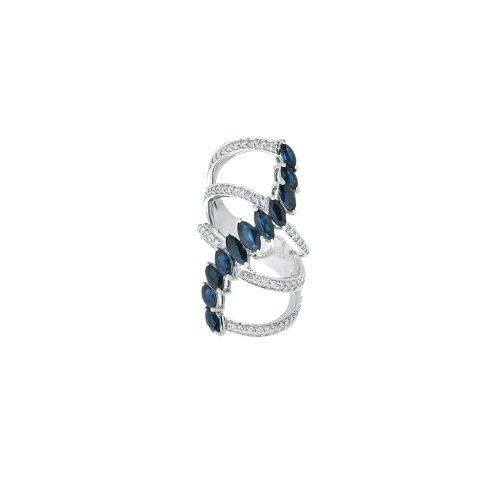Goharbin wave design Sapphire ring2