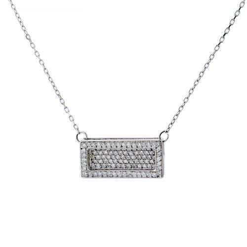 Rectangle Diamond Pendant Goharbin Medals