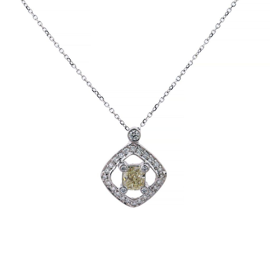 Square Diamond Cushion cut pendant goharbin Medal
